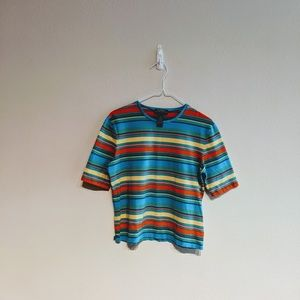 Ralph Lauren colorful striped tee size L